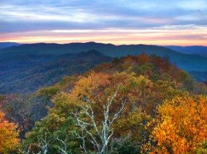 Fall lookout in Bryson City